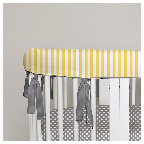Oval 2in1 bumper - gray & yellow