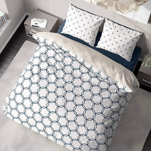 Duvet cover - Honeycomb stars pattern