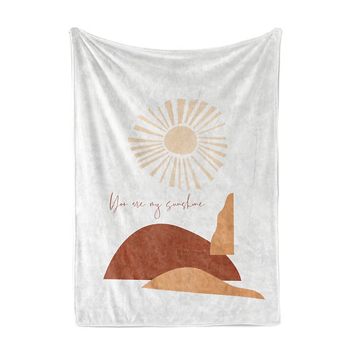 Personalized light blanket - Modern abstract sunshine