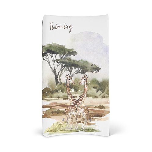 Personalized Changing Pad - Giraffe Twinning