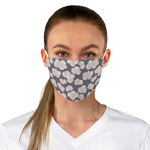 Fabric Face Mask Roses on plum