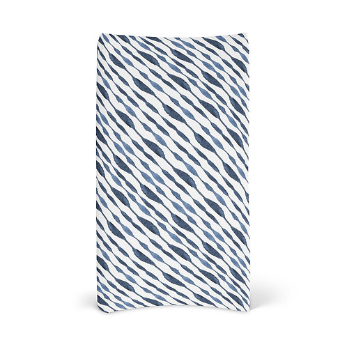 Personalized Changing Pad - Indigo Shibori 9
