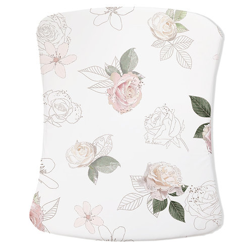 Personalized Stokke care changing pad cover - Royal Ballet Roses