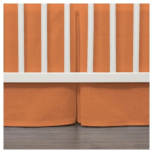 crib skirt - orange