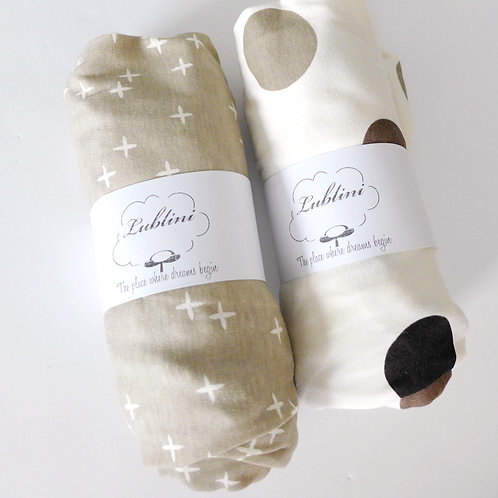 Stokke mini fitted sheet - organic neutral
