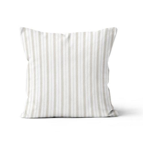 Throw Pillow - Ticking pattern