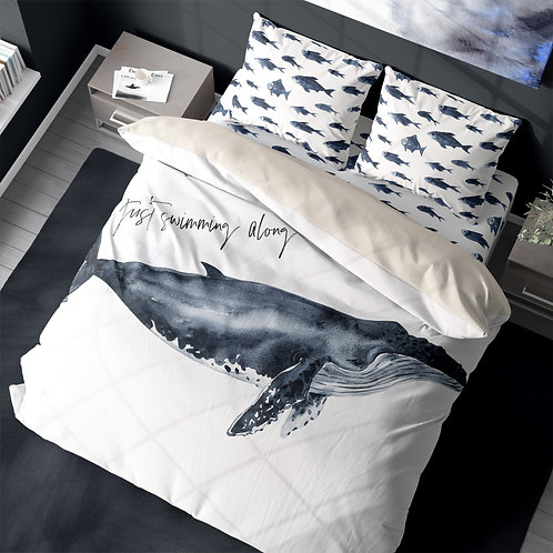 Personalized duvet cover - Humpback Whale