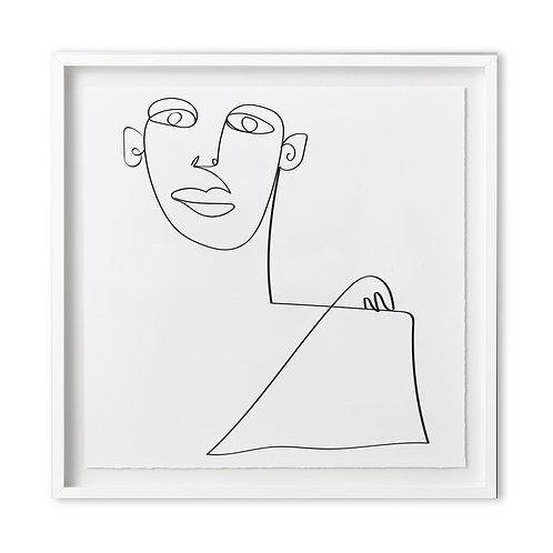 Fine art print - line art cubic