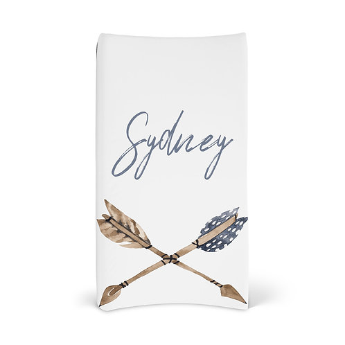 Personalized Changing Pad - Boho arrows