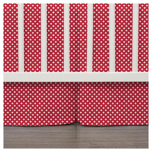 crib skirt - red