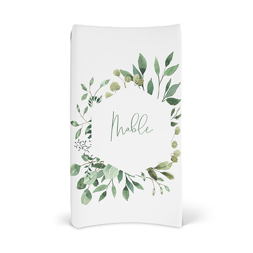 Personalized Changing Pad - Watercolor leaf