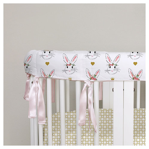 Stokke sleepi rail guard - bunnies & gold
