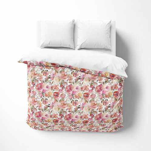 Personalized comforter - Enchanted roses
