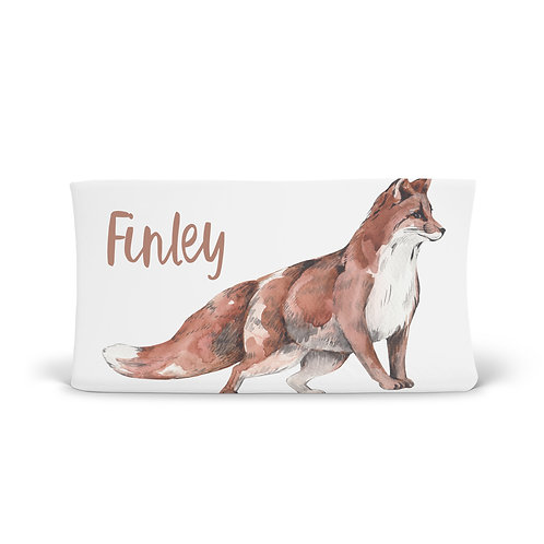Personalized Changing Pad - Woodland Fox