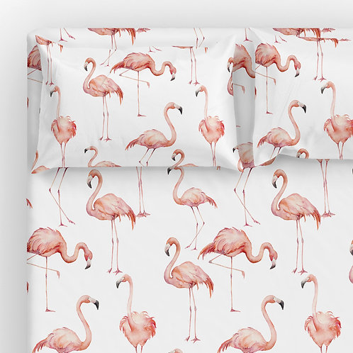 DYO - Custom Sheet Set - Tropicana Flamingo