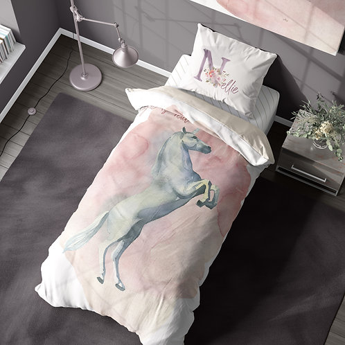 Personalized duvet cover - enchanted unicorn