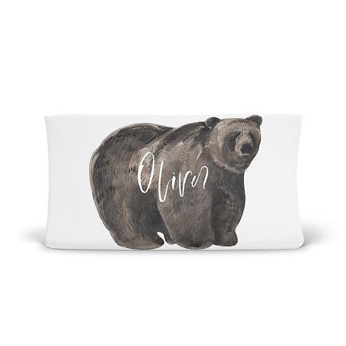 Personalized Changing Pad - Woodland Bear