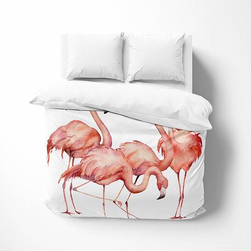 DYO - Custom Comforter - Tropicana Flamingo