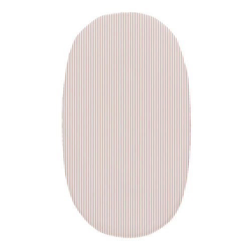 Oval crib fitted sheet - Rose Gold