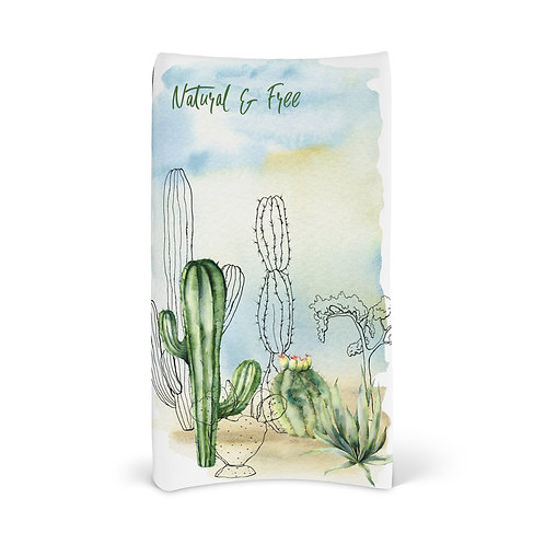 Personalized Changing Pad - Cacti desert