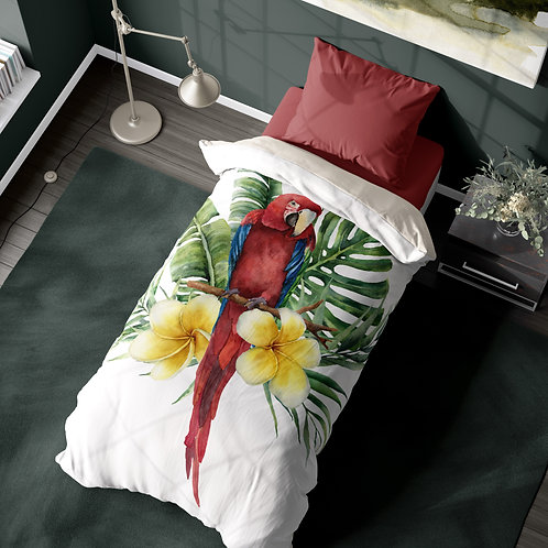 Personalized duvet cover - Tropical Macaw