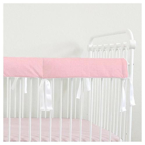 Crib teething rail guard - linen