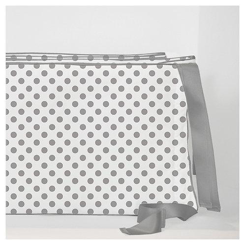 Crib convertible 3in1 bumper - polka dots