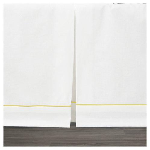 Crib skirt - pure white
