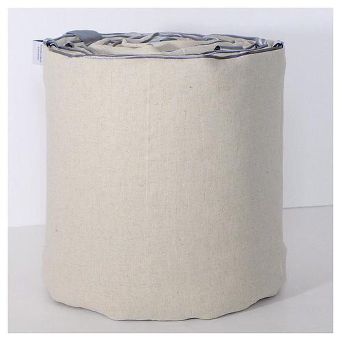 Oval bassinet bumper - linen