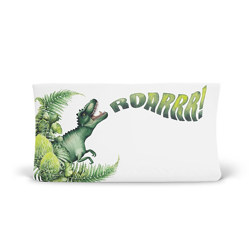 Personalized Changing Pad - T-rex roars