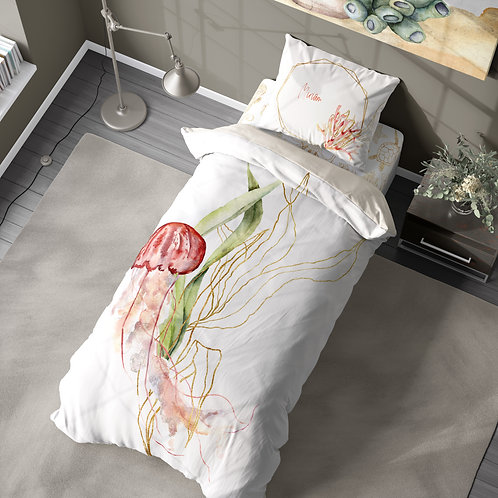 Personalized duvet cover - Jellyfish