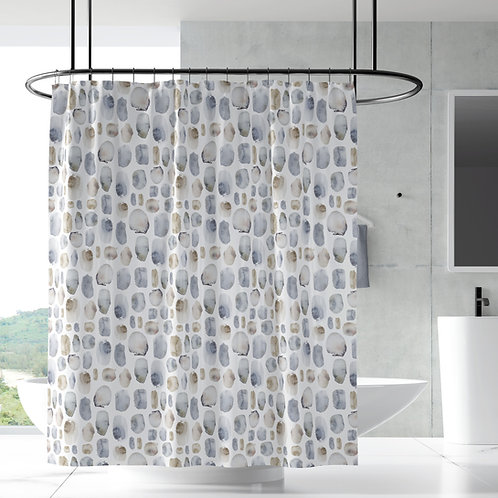 Shower Curtain - Iceland pebbles
