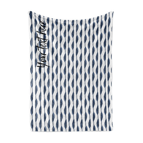 Personalized light blanket - shibori