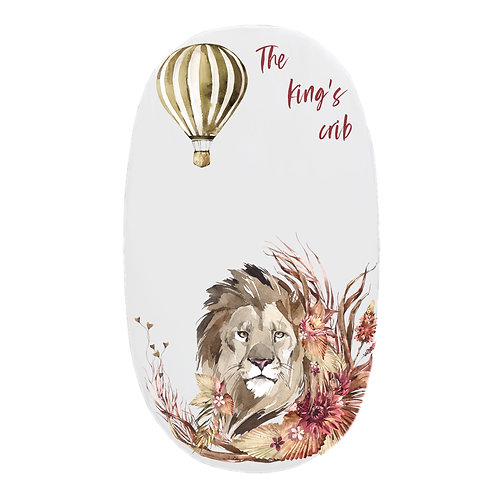 Personalized oval fitted sheet - Safari Lion