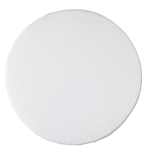 Round bassinet fitted sheet - pure white