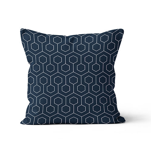 Throw Pillow - Geometric Honeycomb pattern
