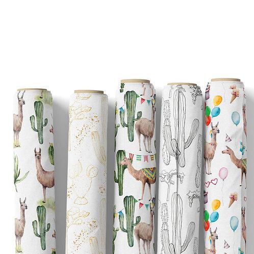 Fabric by the yard - Cacti Llama