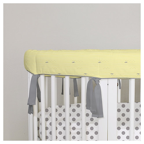Oval rail guard - gray & yellow