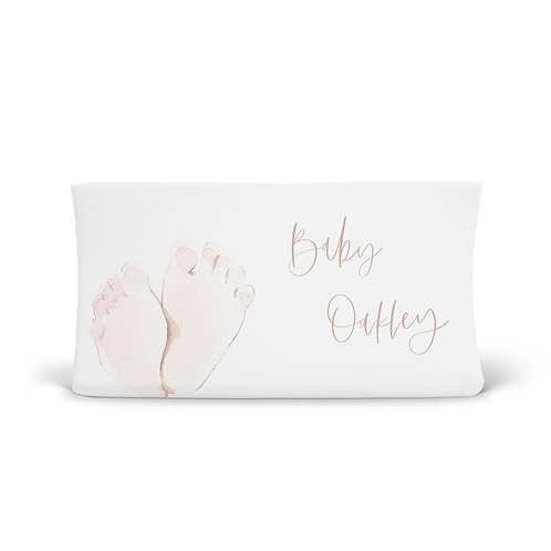 Personalized Changing Pad - baby's feet