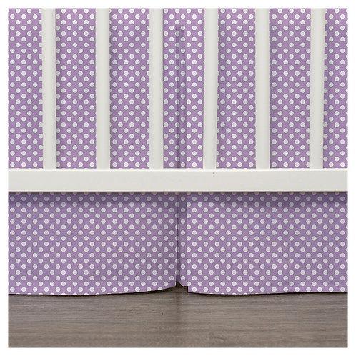 Crib skirt - lavender