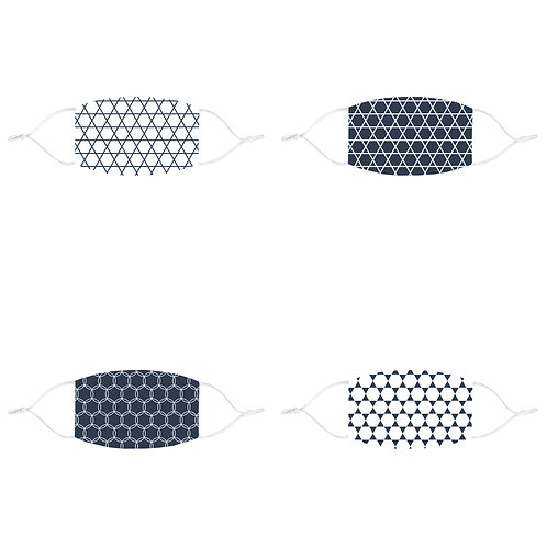 Matching Hanukkah fitted Face Mask // Any Pattern // Any Color