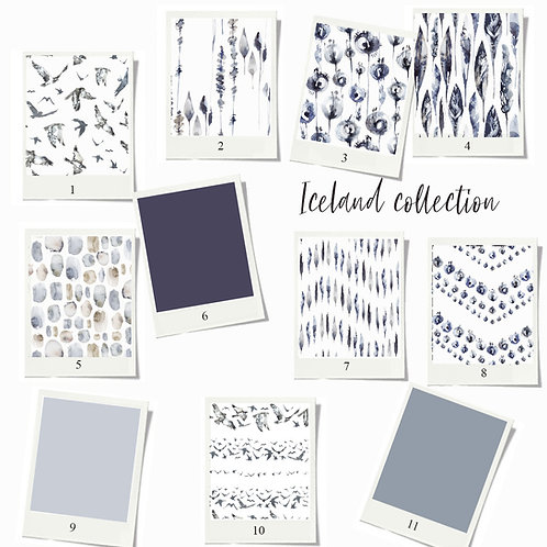 Iceland - Fabric sample