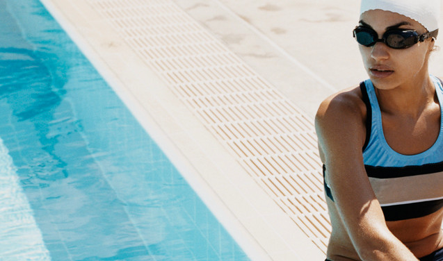 Swimmer by the Pool
