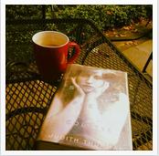 Reading Colette in my backyard