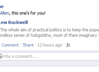 Mencken and Facebook collide!