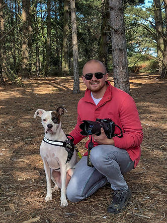 Uldis Krievs The Petographer with his American Bulldog