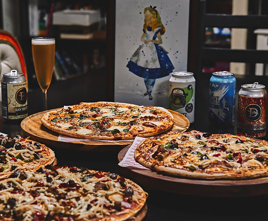 pizza and craft beer