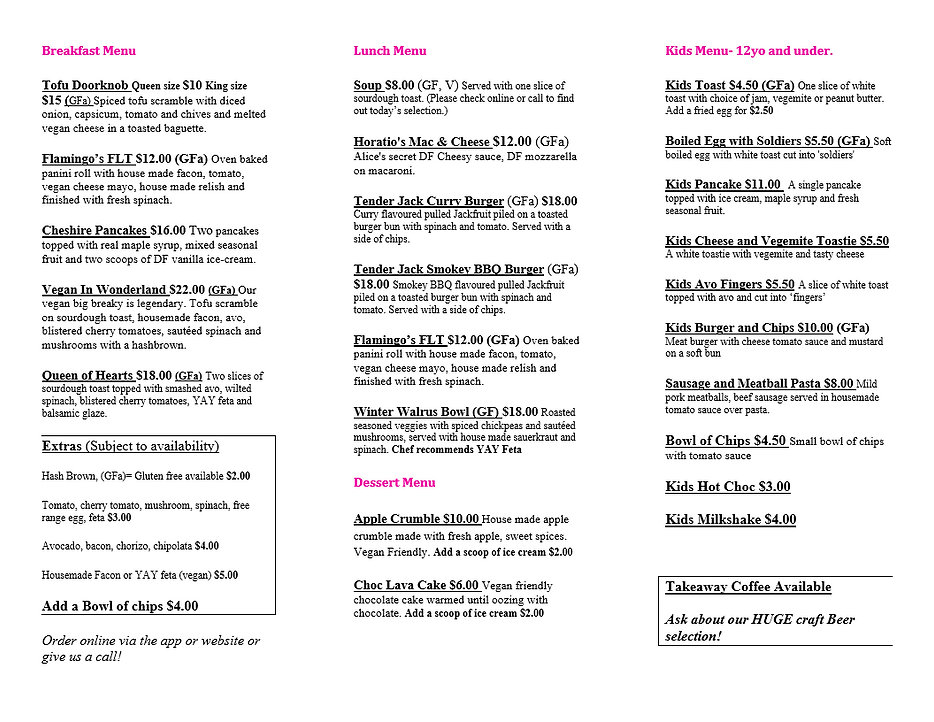 Vegan breakfast and lunch menu Chelsea