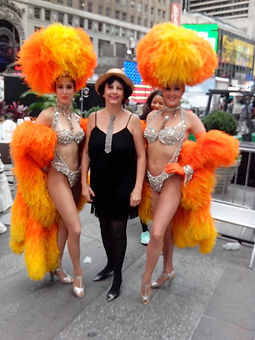 french  singer Sylvie Boisel and the Moulin Rouge Dancer  NYC