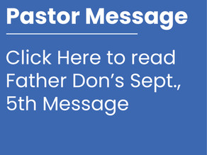 Pastor Message (Sept., 5th)